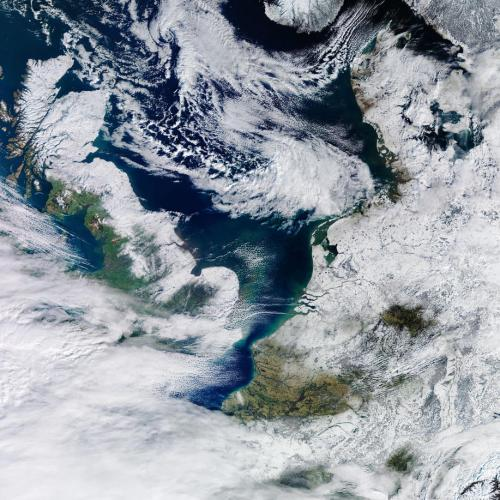 Photo story: The Netherlands covered in snow as seen from space