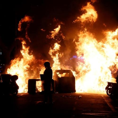 Photo Story: Violent protests in Barcelona