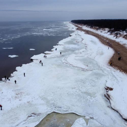 Photo Story: Frozen Baltic seacoast in Latvia