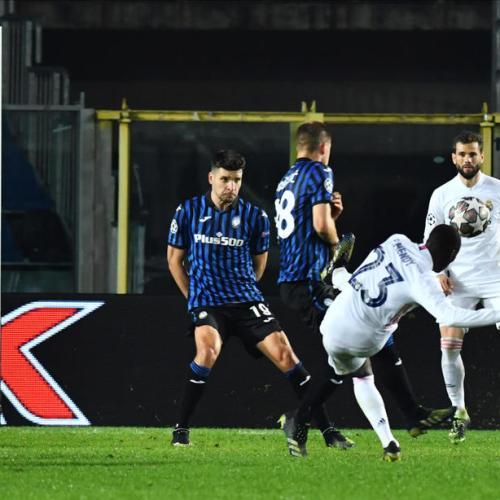 Mendy fires late winner as Real struggle to beat 10-man Atalanta