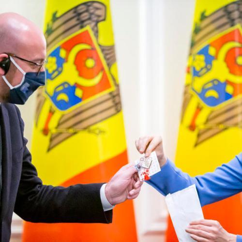 Charles Michel visits Moldova