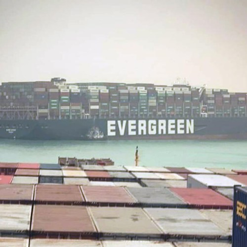 UPDATED: Giant container ship stuck in Suez Canal partially re-floated, port agent says