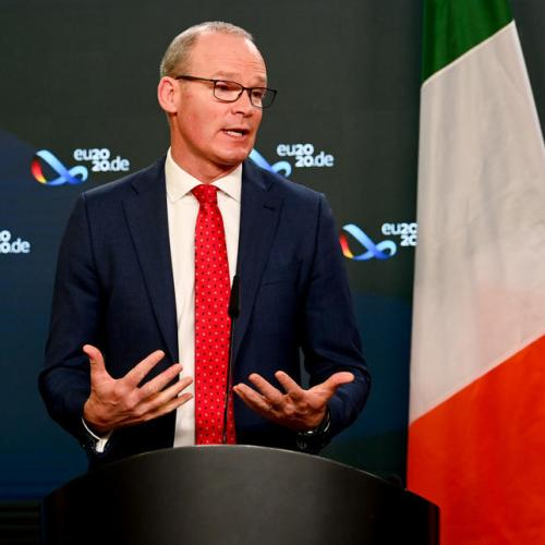 Irish foreign minister says UK guilty of 'perverse nationalism'
