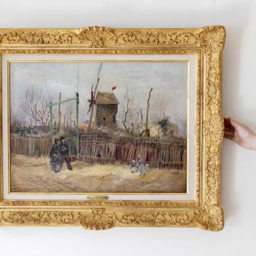 Photo Story: Vincent van Gogh's painting Scene de rue a Montmartre on display in Amsterdam