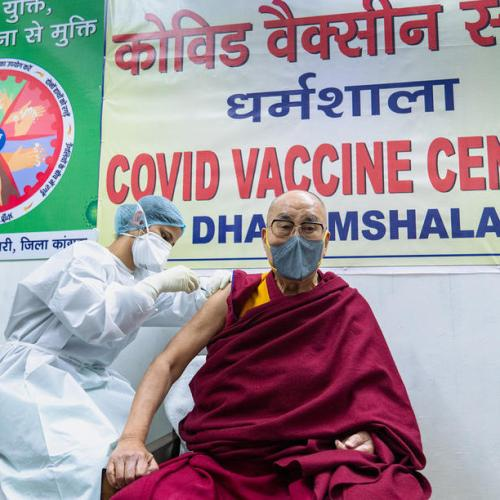 Dalai Lama receives first vaccine dose