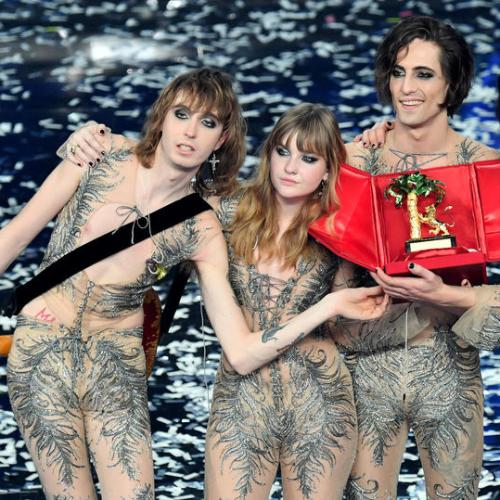 Photo Story: Italian band Maneskin win the 71st Sanremo Music Festival 2021