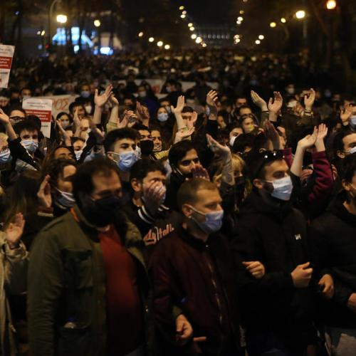 Clashes break out in Greece after march against police