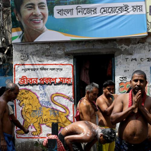 Photo Story – Kolkata prepares for West Bengal Legislative Assembly elections