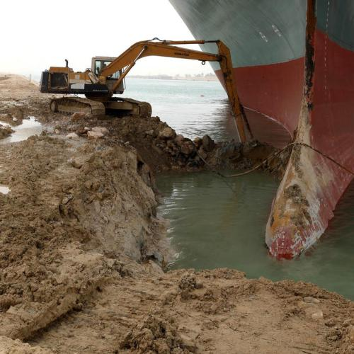Ship stuck in the Suez Canal unleashes flood of Internet jokes