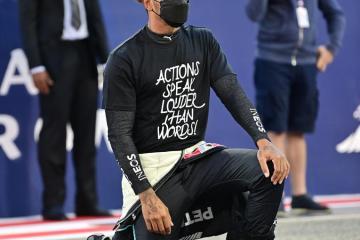 F1 world champion Hamilton condemns racist abuse of England players