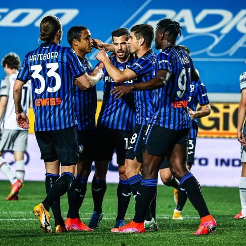 Atalanta put five past 10-man Bologna to go second in Serie A