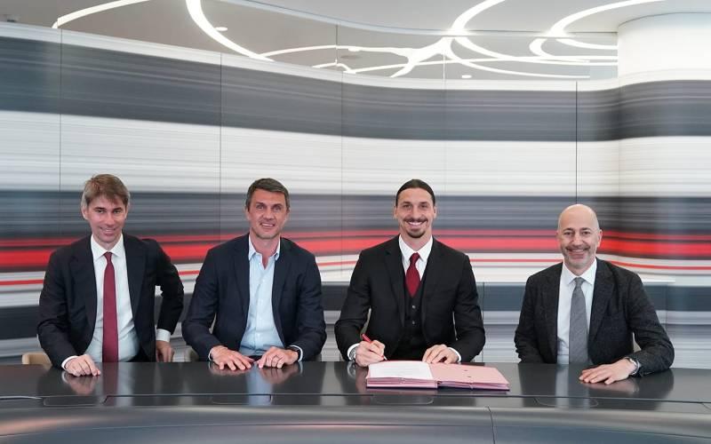Zlatan Ibrahimovic renews his contract with Ac Milan