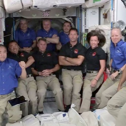 Astronauts arrive at International Space Station