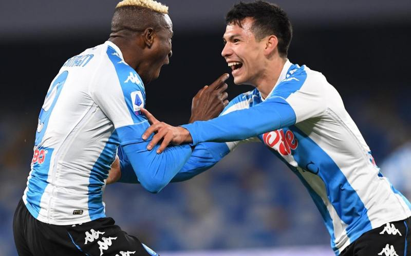 Napoli put five past Lazio to strengthen top-four credentials
