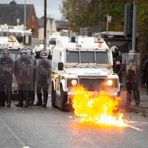 Northern Irish loyalists demand Brexit changes, call for end to street violence