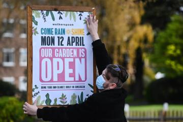 English shops and pub gardens reopen in 'major step' to freedom