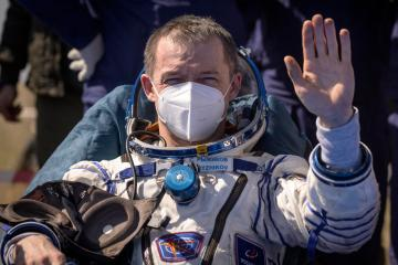 Three astronauts return from International Space Station