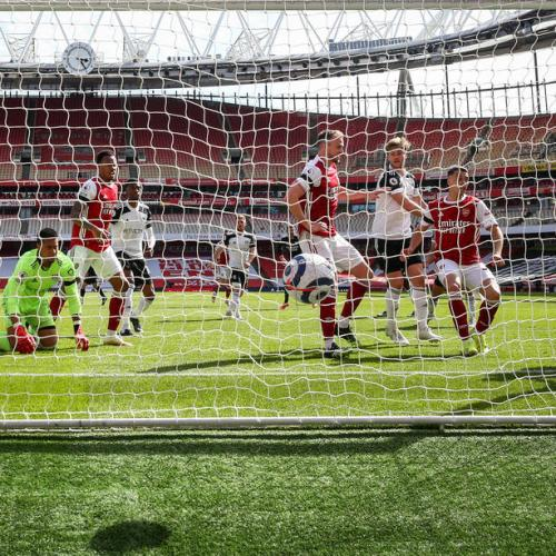 Nketiah's stoppage-time strike denies Fulham first win at Arsenal
