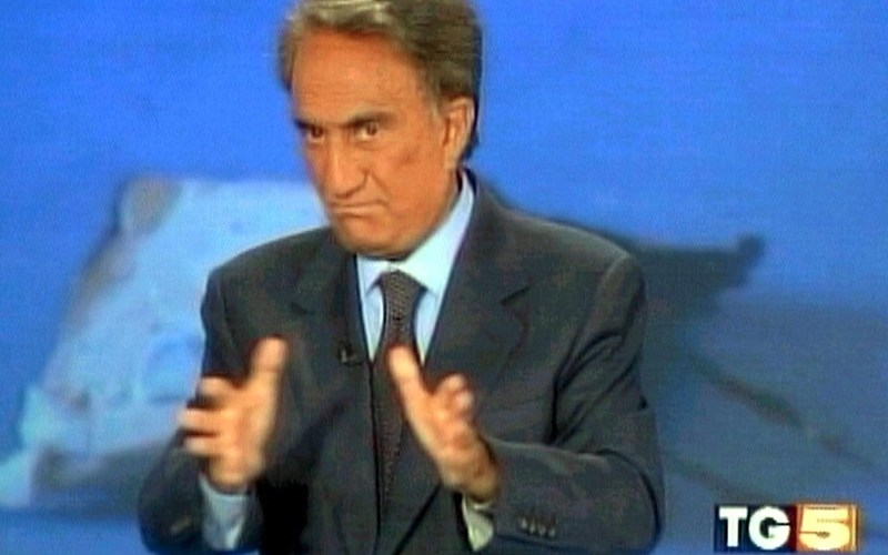 Italian journalist Emilio Fede hospitalised in very serious conditions