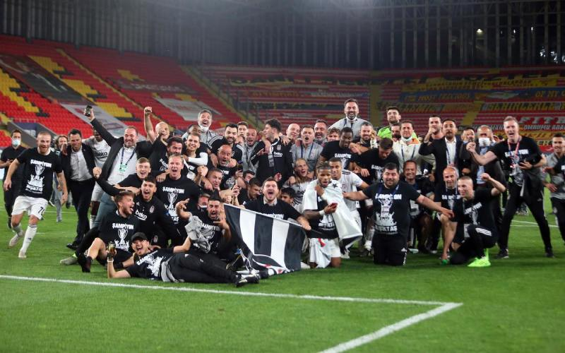 Besiktas clinch Turkish title on goal difference