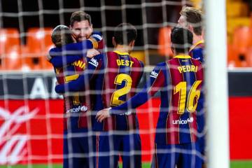 Messi nets twice in Barca turnaround over Valencia
