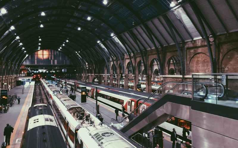 people walking inside a train station