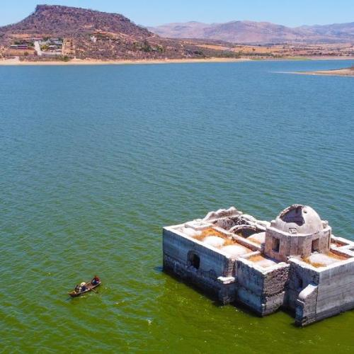 Photo Story – Virgen de los Dolores Temple in Zangarro community exposed due to drought