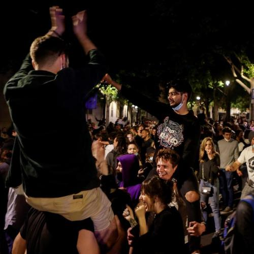 Blame game in Spain after street parties break out as restrictions ease