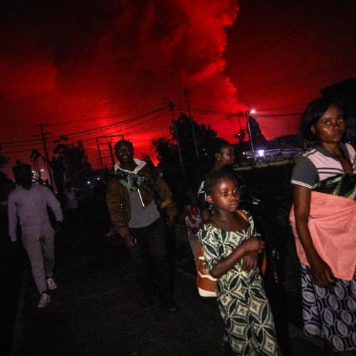 Volcano erupts in eastern Congo, thousands flee Goma