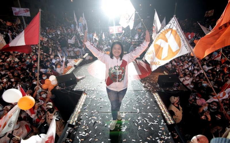 Keiko Fujimori's presidential campaign closure in Lima, ahead of second round of voting