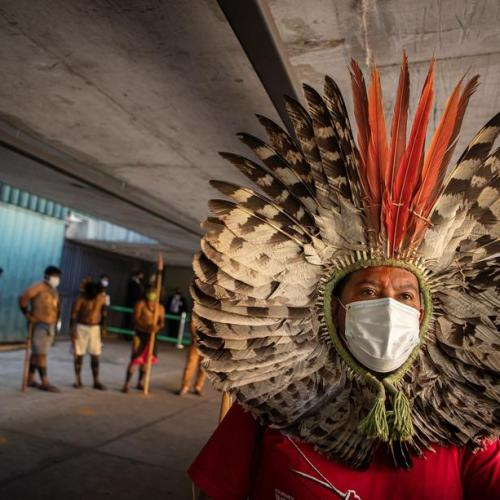 Photo Story – Indigenous people of Brazil protest against bill that provides for changes in their territorial rights