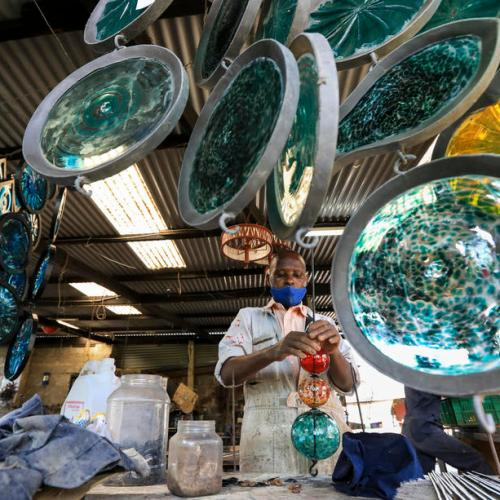 Photo Story – Kenyan company recycles old glass into new objects