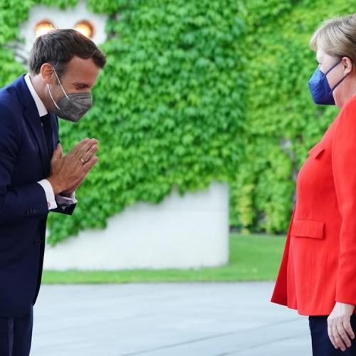 Merkel and Macron urge EU coordination on reopening borders