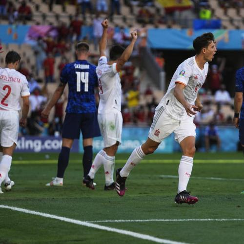 Spain crush Slovakia to set up Euros last-16 date with Croatia