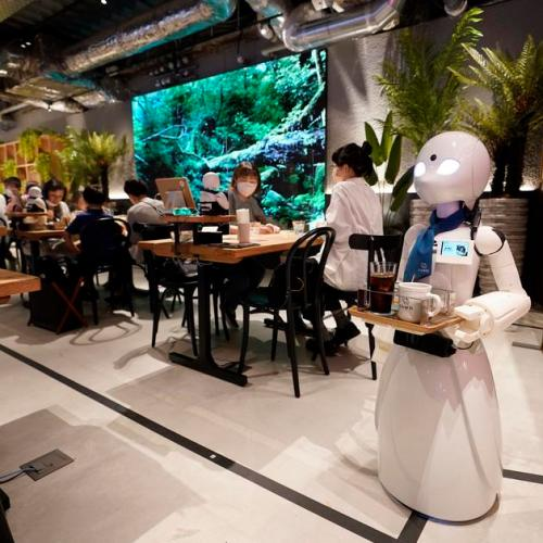 Photo Story: Robot waiter with a cause in Japan