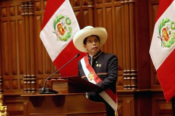 Peru's Castillo, in first speech as president, pledges to heal colonial wounds