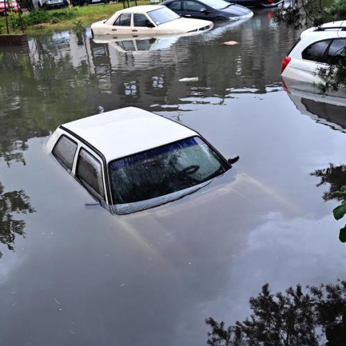 Photo Story:  Heavy rainfall causes flooding in Szczecin, Poland