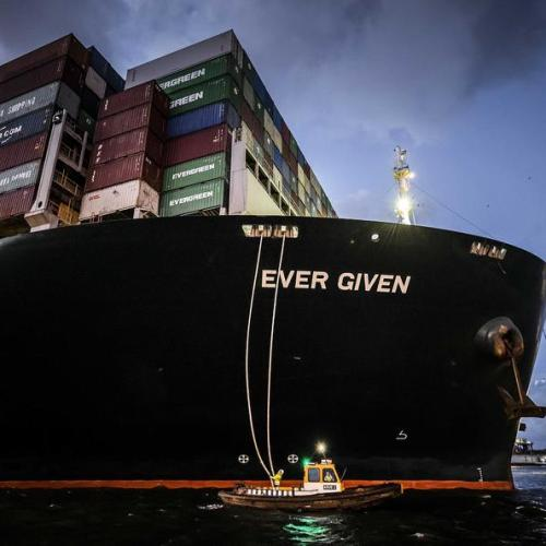 Photo Story: Container ship Ever Given arrives in Rotterdam