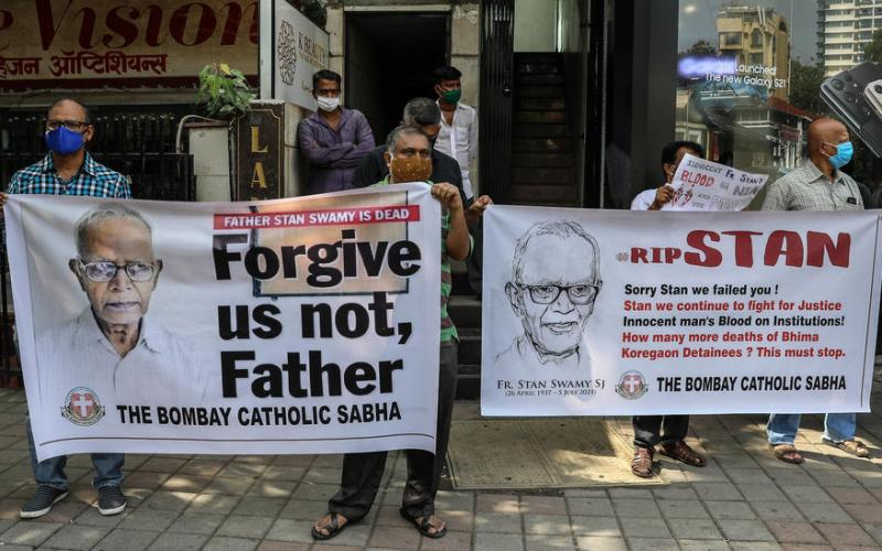 Death of an 84-year-old Indian priest in custody stirs outcry