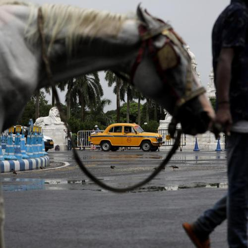 Photo Story – Iconic Kolkata yellow taxi faces trouble amid coronavirus pandemic
