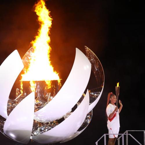 Olympics-Naomi Osaka lights flame as Tokyo's 'games of hope' open