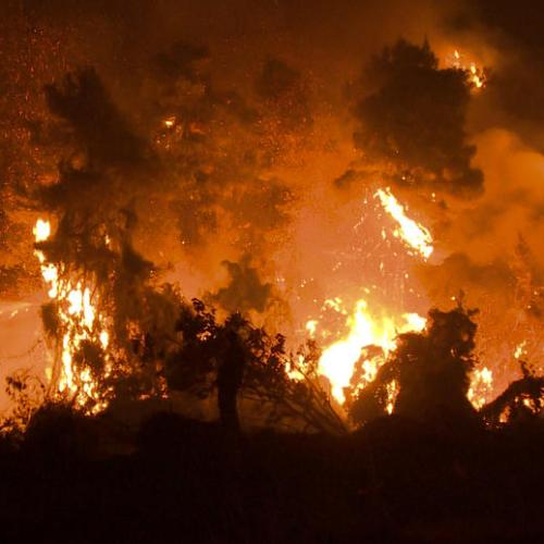 Wildfires burn outside Athens, villages evacuated