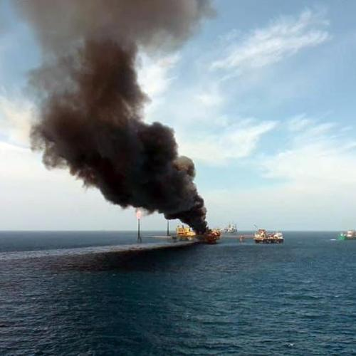 Photo Story: One dead, five missing after Pemex offshore platform fire