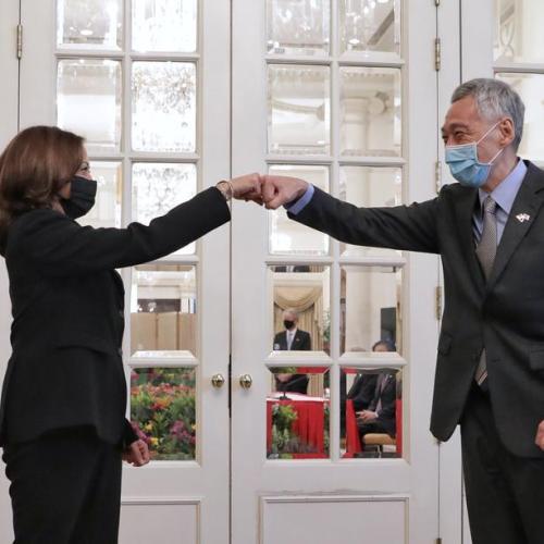 Kamala Harris says U.S. focus on Afghan evacuations, pledges open South China Sea