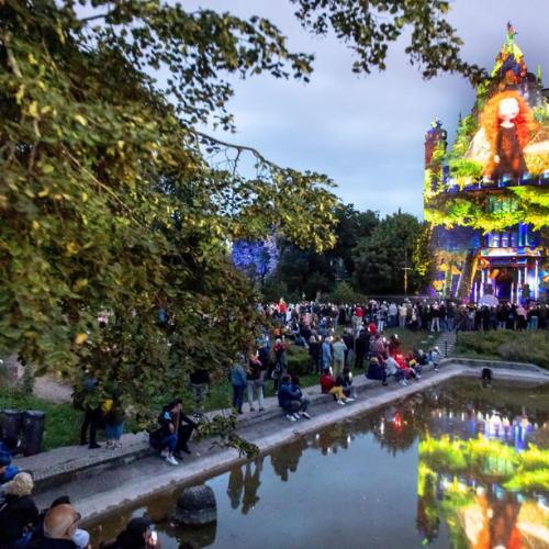 Photo: The Bella Skyway Festival in Torun, Poland