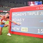 Venezuela's Rojas smashes women's triple jump world record to take gold