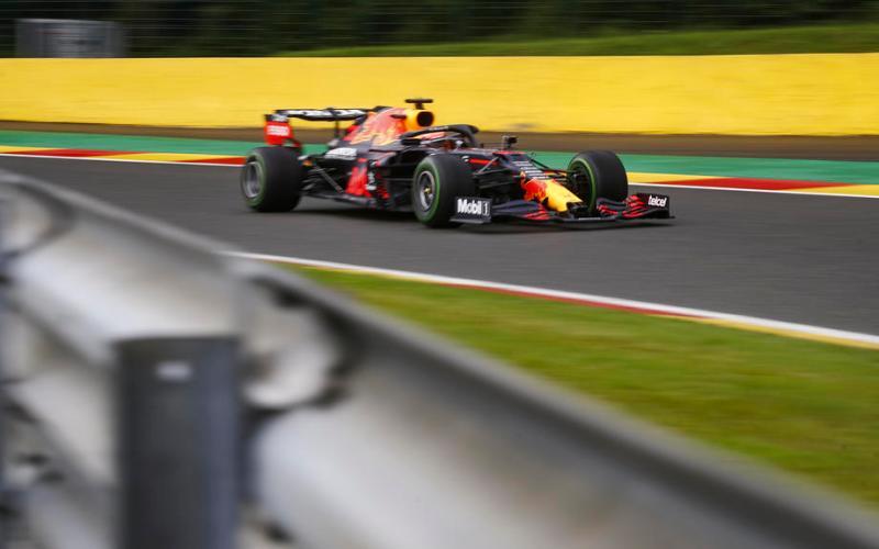 Verstappen leads Red Bull one-two in damp final practice in Belgium