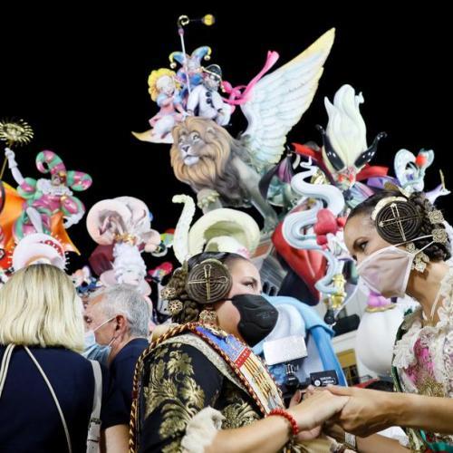 Spain's Fallas fiesta resumes after COVID hiatus, rain damage