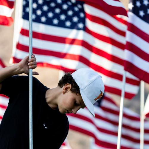 Photo Story: Preparations at the Pepperdine University in Malibu for 9/11 20th anniversary