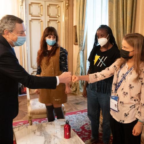 Photo Story: Italian Prime Minister Draghi meets Greta Thunberg at Milan climate talks